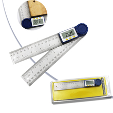 200mm Edelstahl Winkel Lineal LCD Display 360 ° Elektron Goniometer Winkelmesser Winkel finder Holzbearbeitung Holz Messung Werkzeug