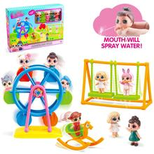 Surprise Doll Children Surprising Pretend Game Amusement Park Ferris Wheel Dolls Playground Toy Set
