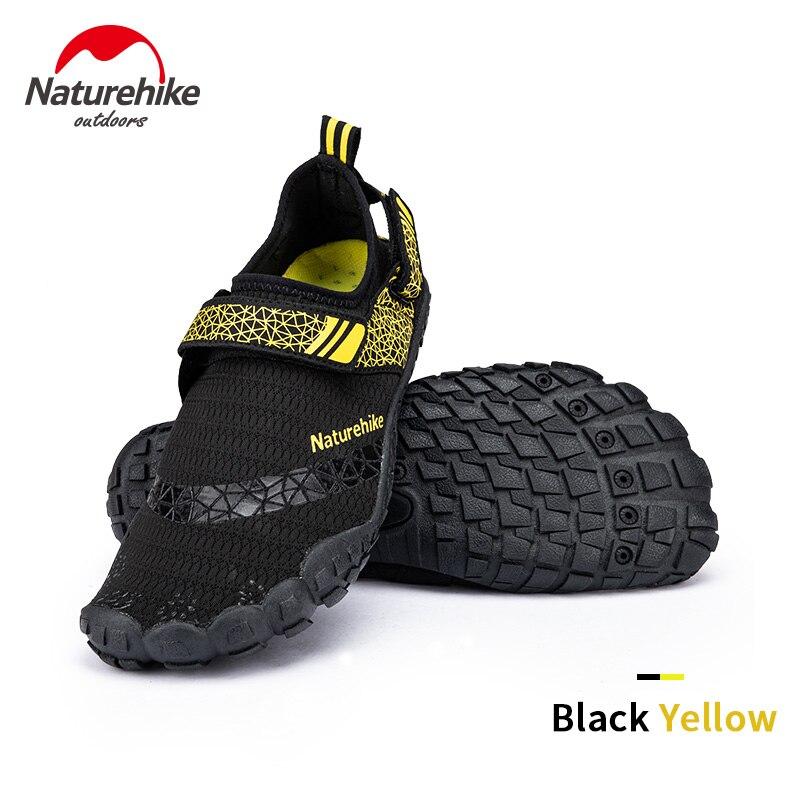 Naturehike Уличная обувь на резиновой подошве, нескользящая быстросохнущая летняя обувь для воды, женские и мужские пляжные шлепанцы для плаван...