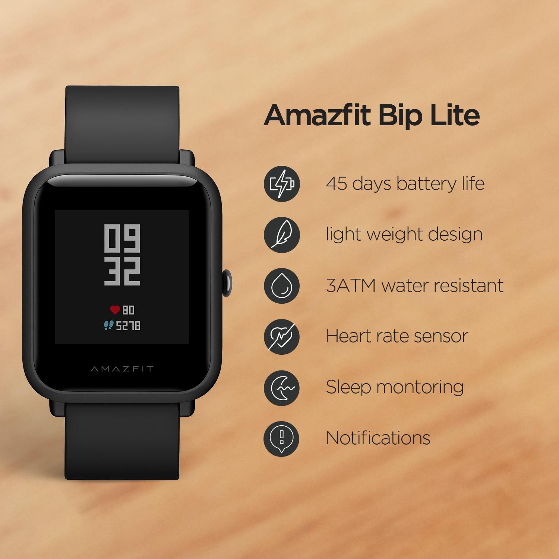 מקורי Amazfit ביפ לייט הגלובלי גרסה חכם ספורט שעון ארוך חיי סוללה 3ATM Smartwatch עבור אנדרואיד IOS טלפון
