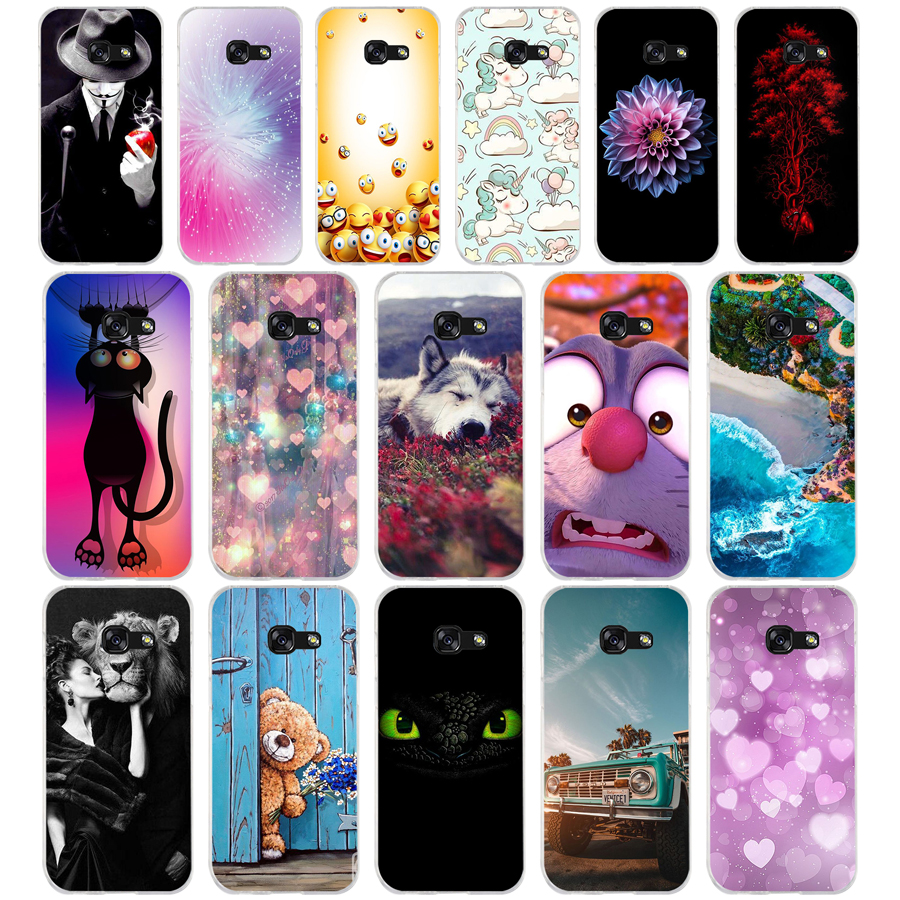 C silicone <font><b>For</b></font> <font><b>Samsung</b></font> A5 2016 <font><b>Case</b></font> Soft TPU Phone <font><b>Case</b></font> <font><b>for</b></font> <font><b>Samsung</b></font> <font><b>Galaxy</b></font> <font><b>A</b></font> <font><b>5</b></font> <font><b>2017</b></font> SM-A520F Cover Coque Funda Skin shockproof image