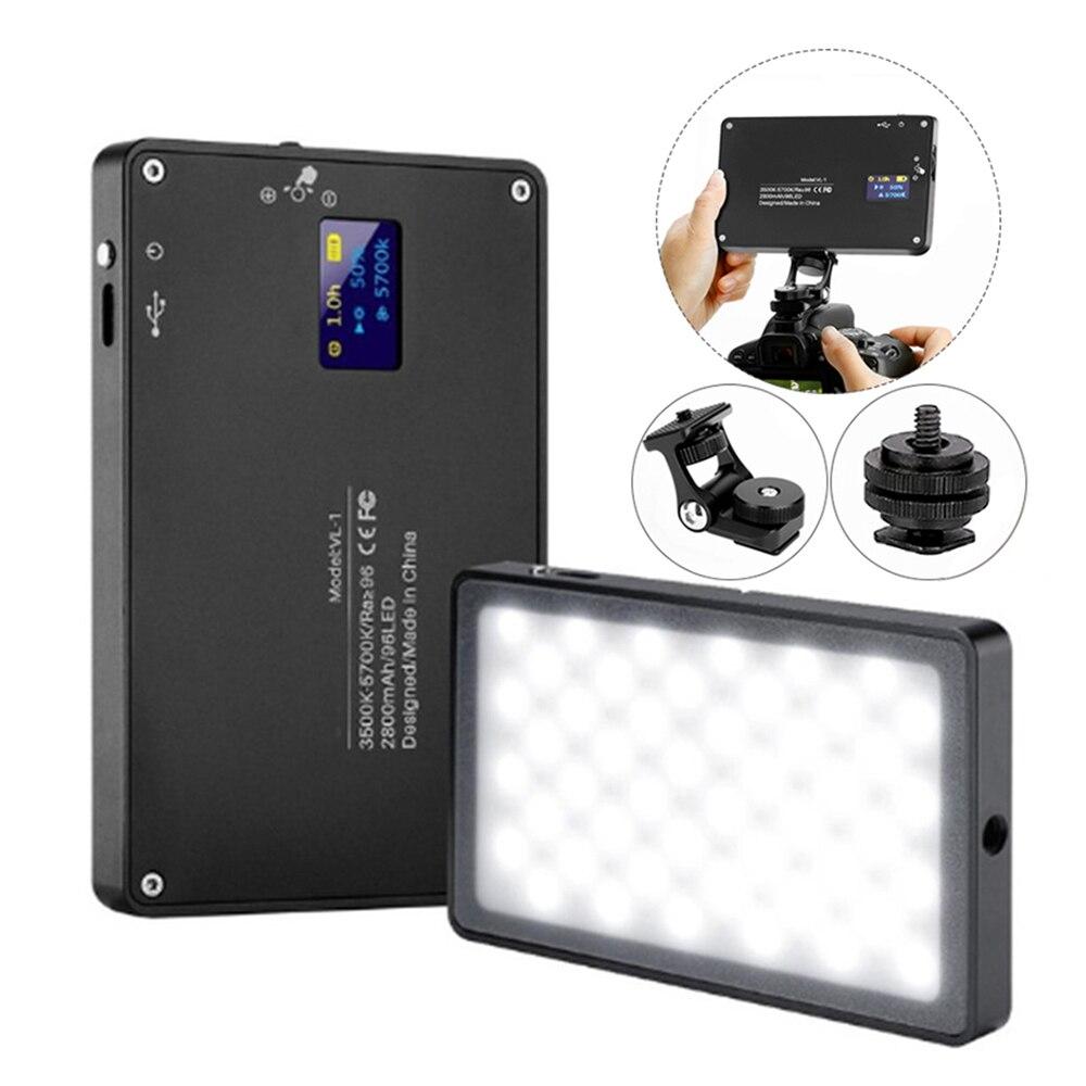 3500-5700K Mini LED caméra vidéo lumière Dimmable 96 LED lampe d'éclairage photographique pour DSLR Canon Nikon Pentax Matsushita