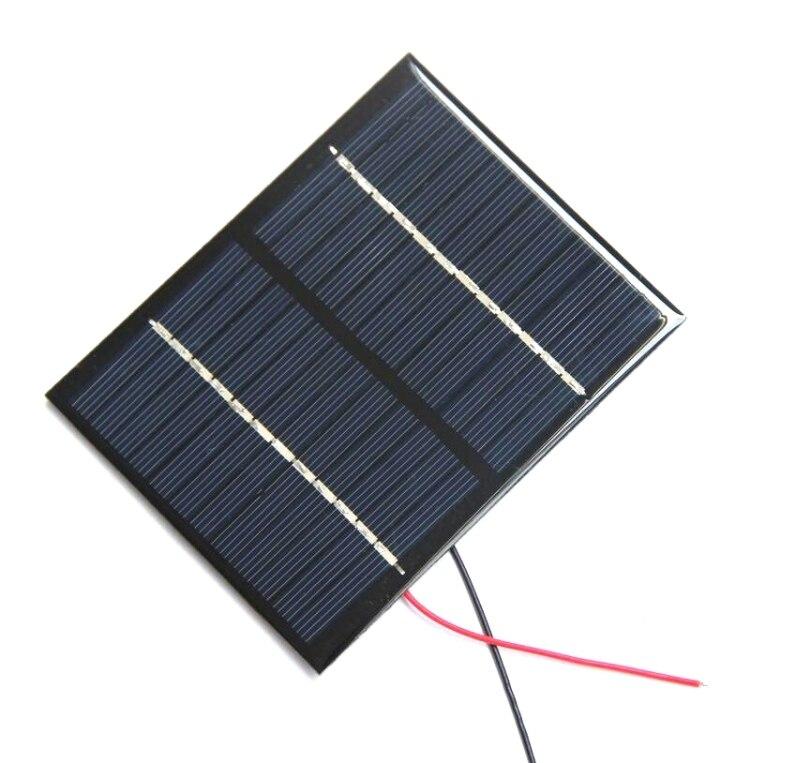 1 5w 12v modulo de celula solar policristalino painel solar com fio de cabo diy estudo