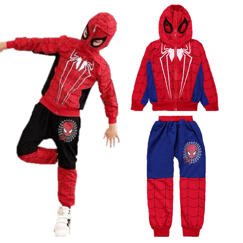 Spiderman Kids Boys Tracksuit Hoodies Sweatshirt T-shirt Tops Trousers Outfits