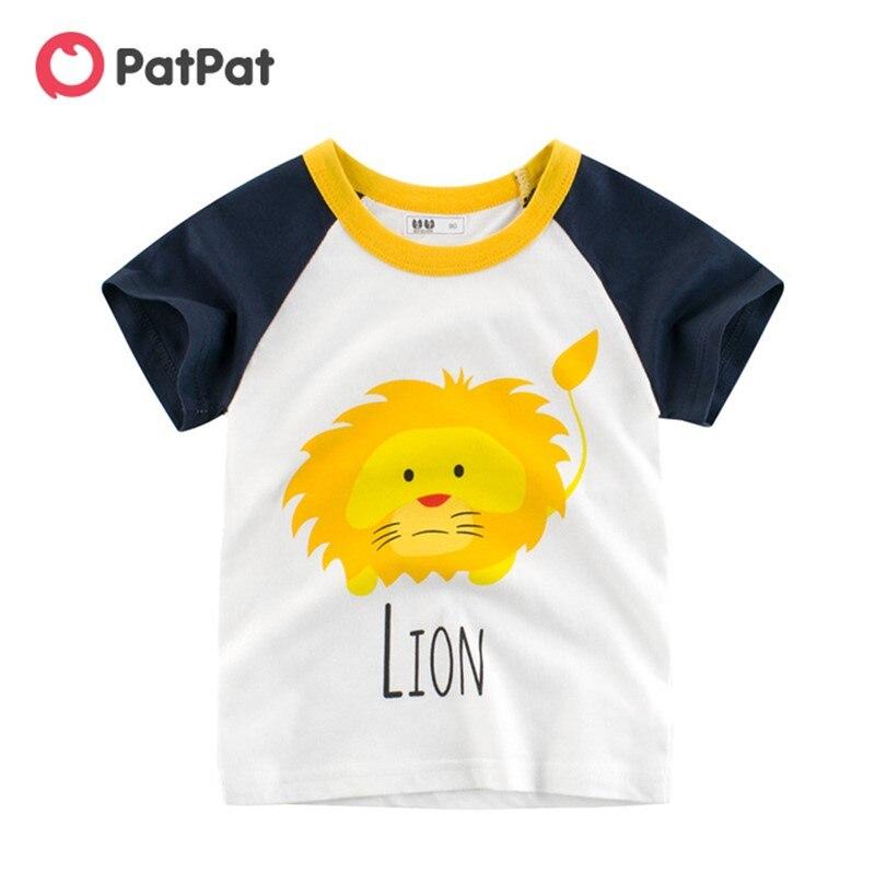 Летняя детская одежда PatPat, новинка 2020, футболка, Детские Топы с коротким рукавом для мальчиков, футболки|Футболки| | АлиЭкспресс