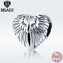 Wings Heart Charm 925 Sterling Silver Angel Guardian Amour Love Beads fit for Luxury s925diy  Snake Bracelet DIY Jewelry GXC780 love любовь amour