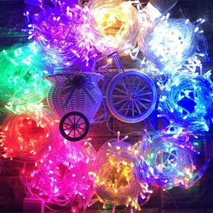 Image 2 - 10M 100LED Luci Della Stringa di LED Di Natale Ghirlanda Decorazione per la Strada Alberi del Giardino Parco Del Partito Decorazione di Cerimonia Nuziale Allaperto UE spina DEGLI STATI UNITI