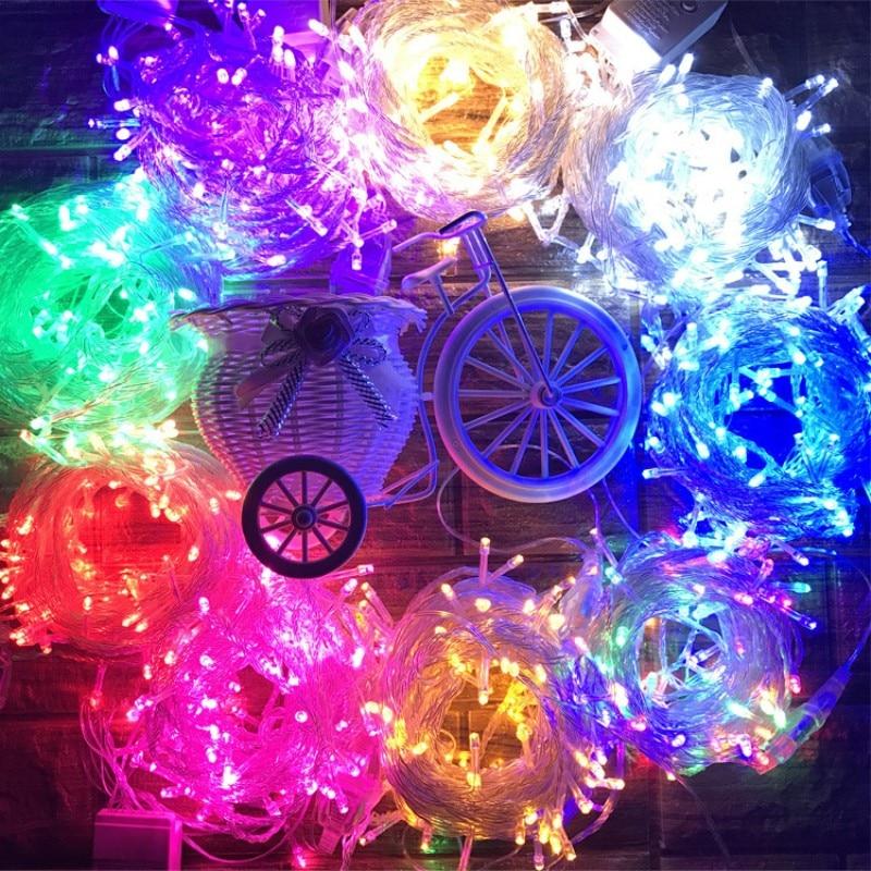 Image 2 - 10M 100LEDs String Lights LED Christmas Garland Decor for Street Trees Garden Park Party Wedding Outdoor Decoration EU US Plug-in LED String from Lights & Lighting on