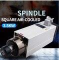 Adad 3.5KW с воздушным охлаждением шпинделя Электрический шпиндель квадратный высокоскоростной двигатель шпинделя гравировального Станка дер...