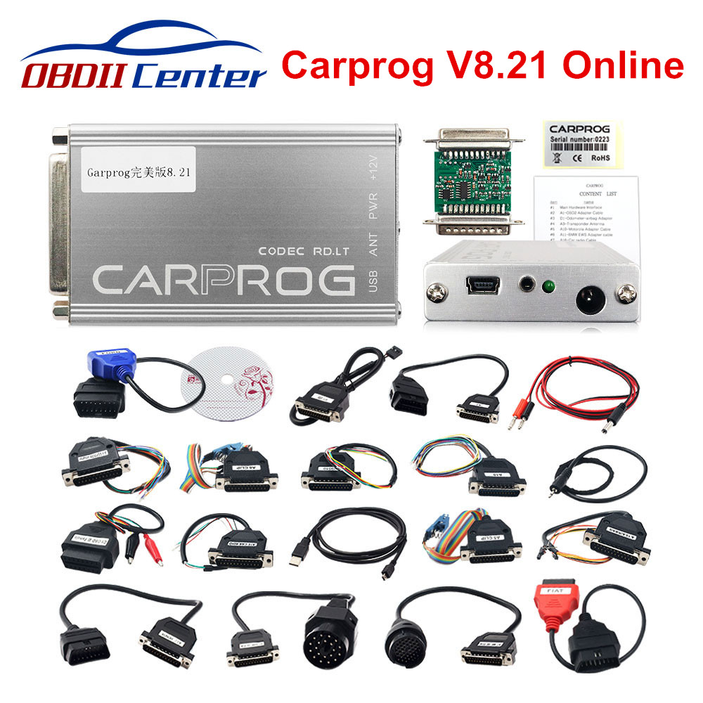 Online Carprog V8.21 Programmer Car Prog 8.21 Full Repair Tool More Authorization Than Carprog V10.93/V10.05/V9.31 With Keygen