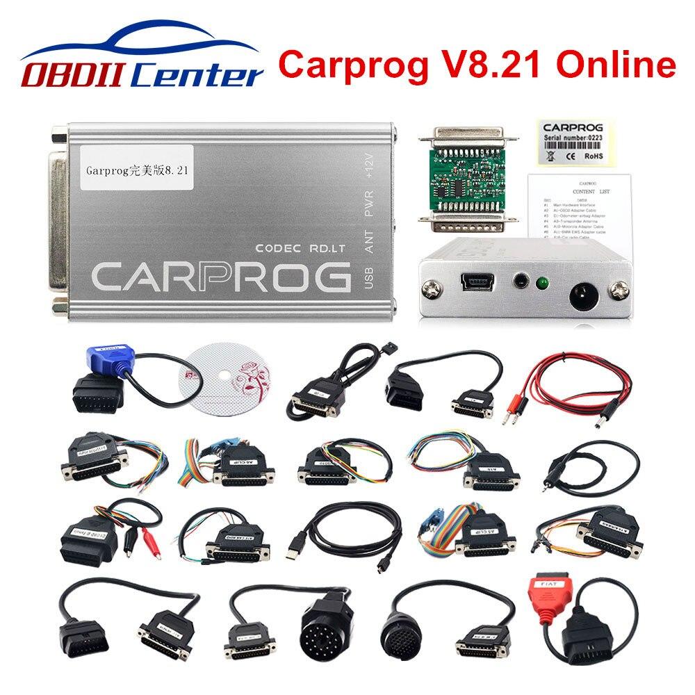 Programador Online Carprog V8.21 herramienta de reparación completa Car prog 8,21 más autorización que Carprog V10.93/V10.05/V9.31 con Keygen