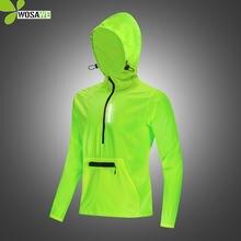 Водонепроницаемые беговые куртки wosawe с капюшоном светоотражающие