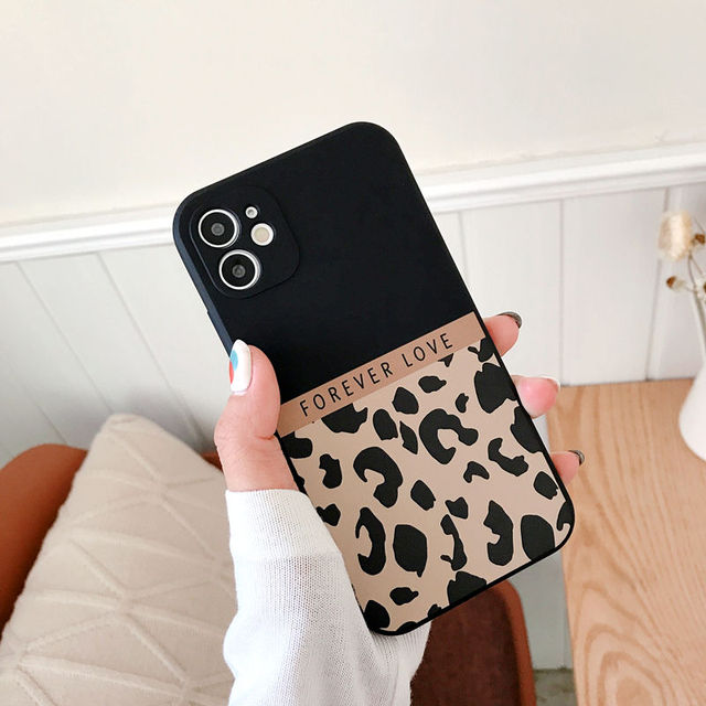 Ranipobo Leopard Print Phone Case For iPhone 12 11 X XR XS Max Soft Back Cover Shockproof Fashion Cover For iPhone 12 7 8 7Plus 2