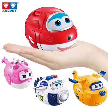 AULDEY Super Wings 4PC set twisted toy blind box toy deformation robot Ledi and xiaoai,bag police give children birthday gifts image