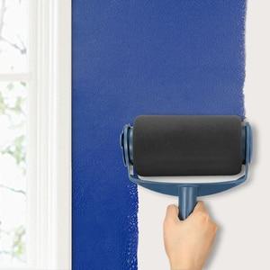 Image 4 - 8pcs Paint Runner Roller Brush Handle Tool Flocked Edger Office Room Wall Painting Home Tool Roller Paint Brush Set Dropship