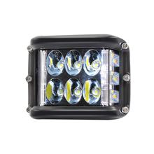 45W Strobe LED Work Light Tri-Row Flash Light IP67 Waterproof Auto Driving Light Universal for Car Truck Boat(China)