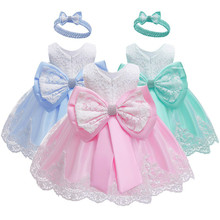 New Baby Dress Lace Flower Baptism Baptism Newborn Girl Birthday Princess Baby Party Costume Toddler Dresses Lol Doll Clothes цена 2017