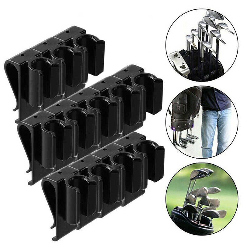 Di alta qualità 12pcs di Sport di Golf Bag Clip On Putter Morsetto Holder Mettere Organizer Club di Golf di trasporto Grip Attrezzature Da Golf