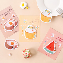6pcs Cute bread cake sticky note set Sweet cookie donut color paper post memo pad planner sticker marker it Office School A6724