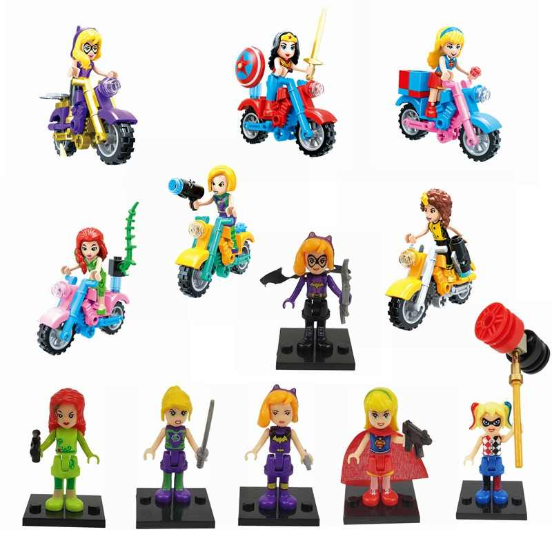 Legoing Batman Super Heroes Harley Quinn Poison Ivy Figures Superheroes Building Blocks Toy For Children Batman Super Hero