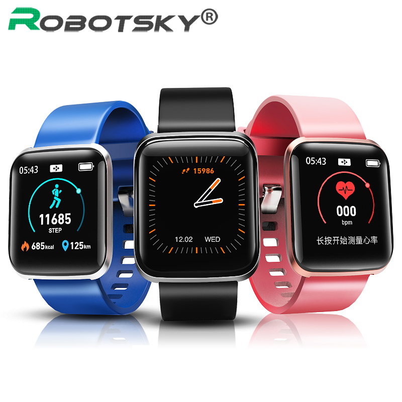 <font><b>W5</b></font> Smartwatch IP67 Waterproof Fitness Tracker Sports <font><b>Smart</b></font> <font><b>watch</b></font> for Men Women with Blood Pressure Oxygen Real-time Heart Rate image