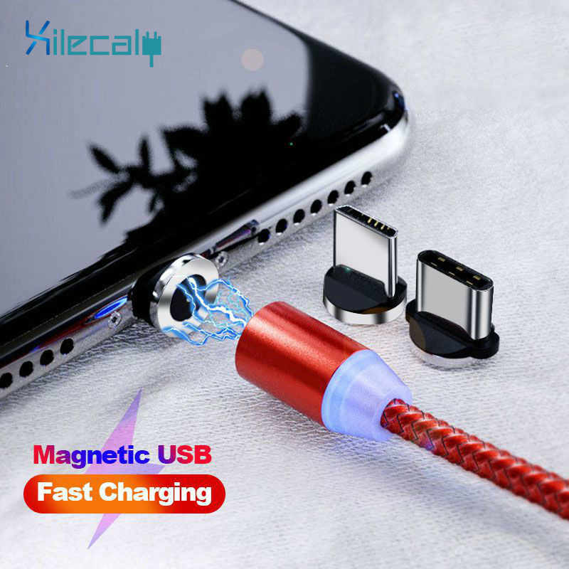 1M Magnetische Micro USB Kabel Voor iPhone Samsung Snelle Opladen Data Wire Cord Magneet Charger USB Type C 3A mobiele Telefoon Kabel