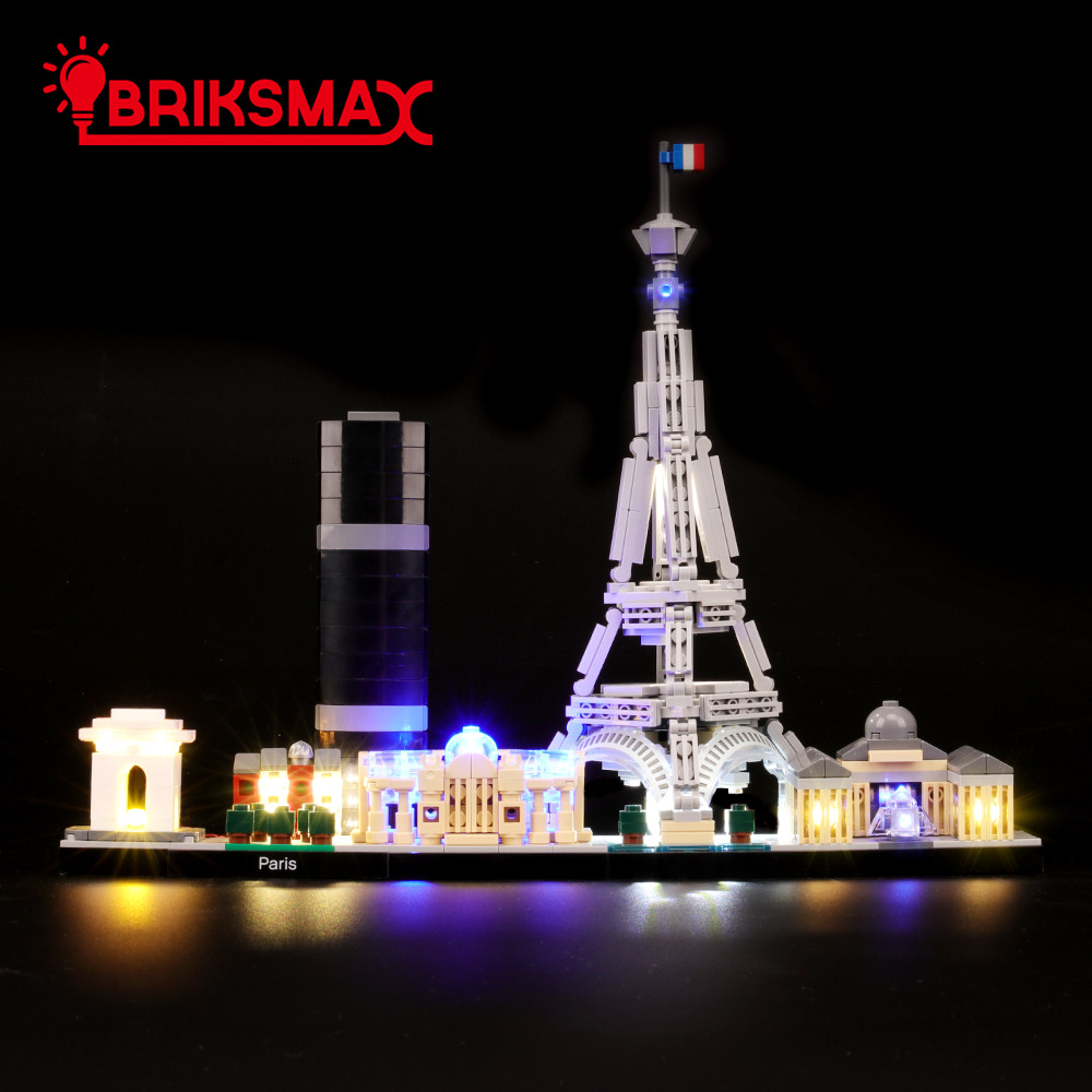 BriksMax Led Light Up Kit For Architecture Paris Building Blocks Compatible With 21044 (NOT Include Model)