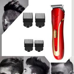 KEMEI Men Electric Hair Clipper Carbon Steel Head Hair Trimmer Rechargeable Electric Razor Men Beard Shaver KM-1409