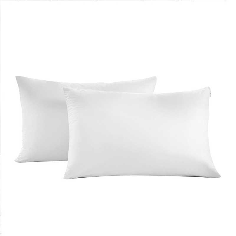 2pcs pillow case 50x70 waterproof zippered pillow protector bed bug pillow cover anti dust mite smooth allergy pillow cases beds