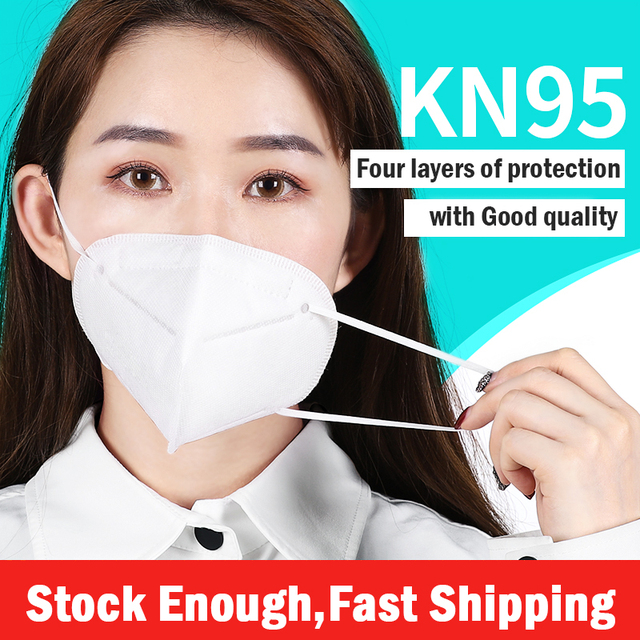 10PCS KN95 4 Layers Mask Antivirus Flu Anti Infection KN95 Masks Particulate Respirator PM2.5 Protective Safety N95 Face Mask 1