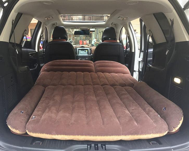Inflatable Car Mattress Rear Row Lover Sex Travel Bed Rear Seat SUV Sleeping Pad Cushion Car Back Mattress Outdoor Camping Mat
