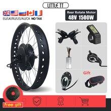 Комплект для преобразования жира на Ebike, заднее колесо 48 в 1500 Вт, бесщеточный мотор-концентратор для электрического толстого велосипеда, сне...