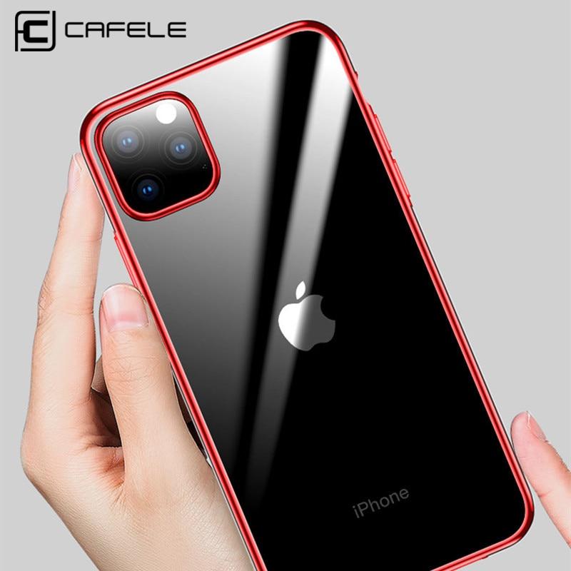 Cafele Original Plating Transparent Case for iPhone 11 Pro Max Cover TPU Soft New pro max Anti Scratch Luxury