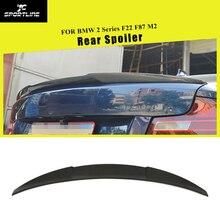 Углеродное волокно автомобиль спойлер заднего багажника, крыла загрузки губ для BMW F22 220i 228i M235i F87 M2 купе