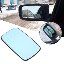 Samger 1Pcs Mirror Glass Replacement for BMW E46 Blue Left Right Side Car Glass Heated Rearview Mirror Glass 51168250438 1pair l r door wing mirror glass heated blue left right side for bmw x5 e53 99 06 3 0i 4 4i car styling rearview mirror heating