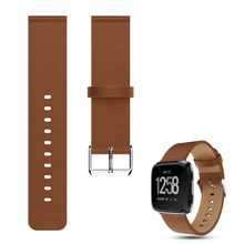 Heang Litchi Pattern Classic Adjustable Replacement Leather Sport Watchband Wrist Strap Bracelet for Fitbit Versa 2/Versa Lite(China)