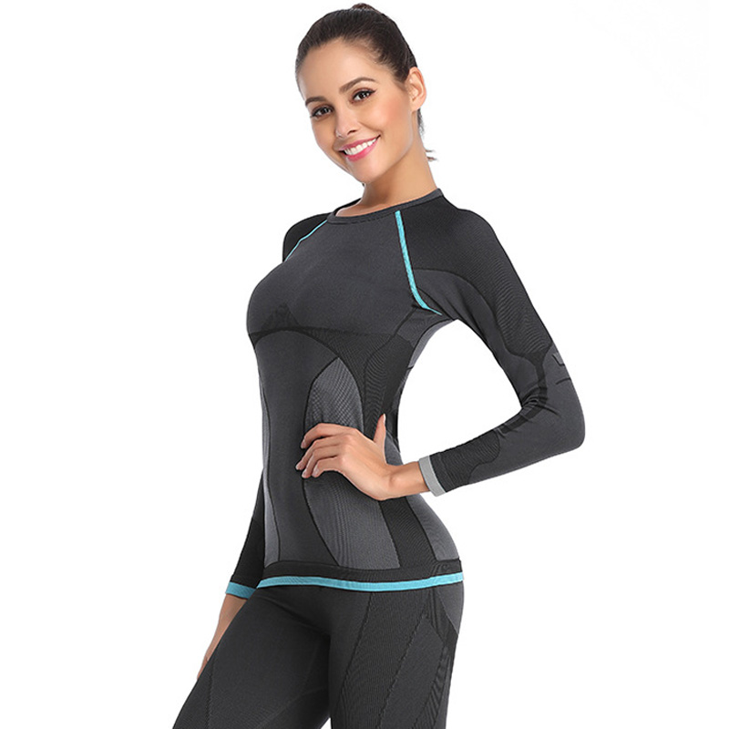 Winter Thermal Underwear Women Long Johns Sets Quick Dry Stretch Ladies Thermo Underwear Warming Thermo Clothing