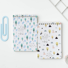 1pack/lot Fresh and natural style portable notebook Small Coil Diary Notebook Stationery student supplies
