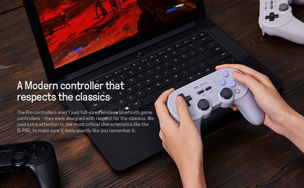 SN30 pro plus Official 8BitDo SN30 PRO+ Bluetooth Gamepad Controller with Joystick for Windows Android macOS Nintendo Switch 17