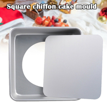 8 inch Cake Pan with Removable Bottom Aluminium Alloy Square Big Mould Kitchen Baking Chiffon cheese Cake Mousse Cake Mould