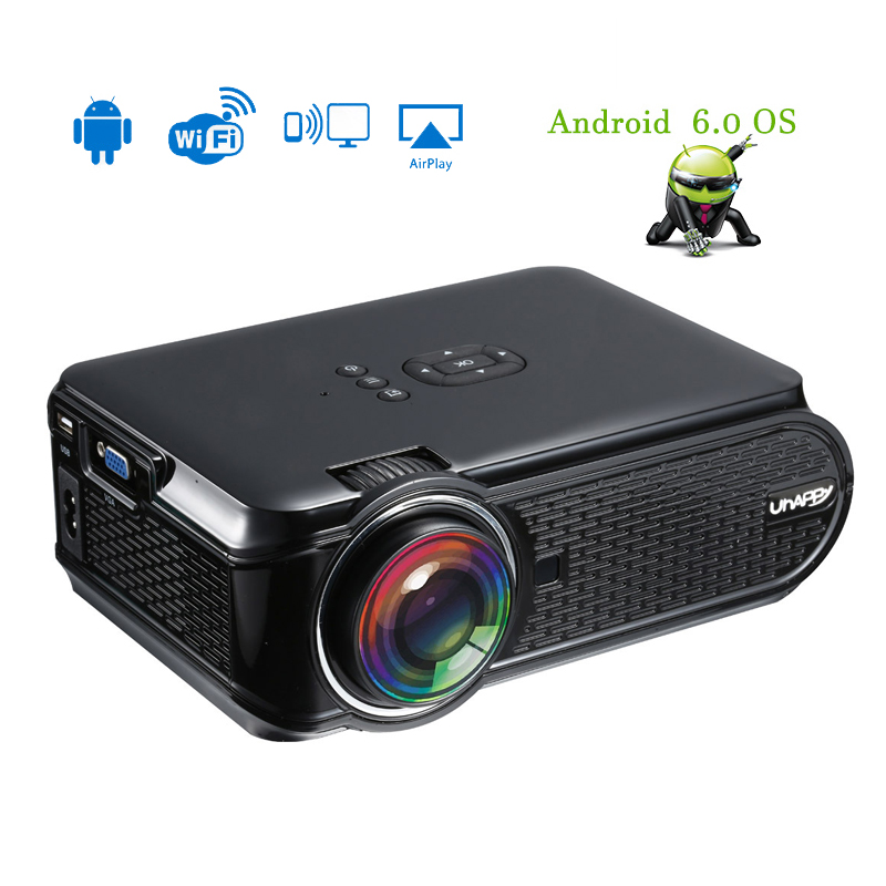 <font><b>LED</b></font> Mini Projector 800x480P <font><b>LED</b></font> Projector Android 6.0 Wifi Smart Home Theater HDMI USB Audio Portable Projector player image