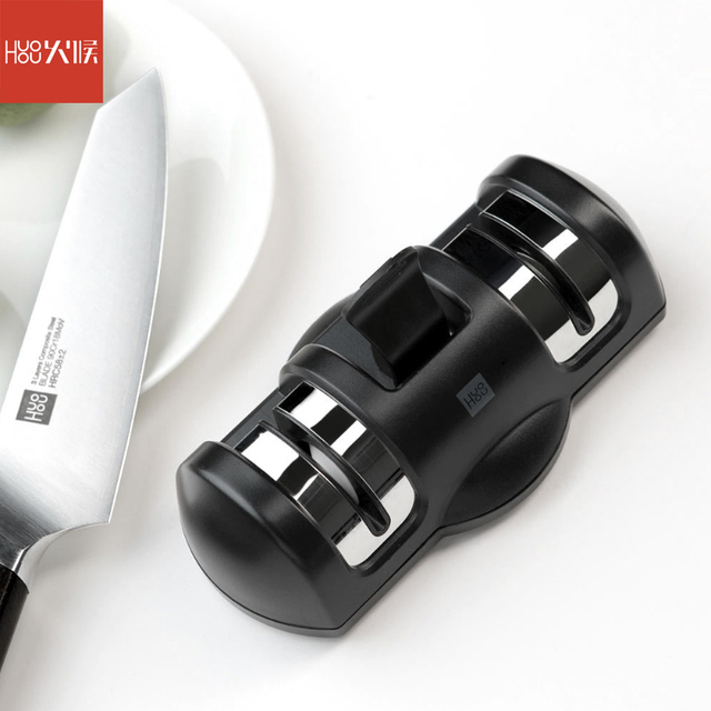Huohou Knife Sharpener 2 Stages Kitchen Sharpening Stone Grinder knives Whetstone Sharpener Tool for Kitchen Knife