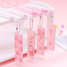 Pen Black Pendant-Pens Korean Stationery School-Supplies Writing Ruler Gift Girls Cute