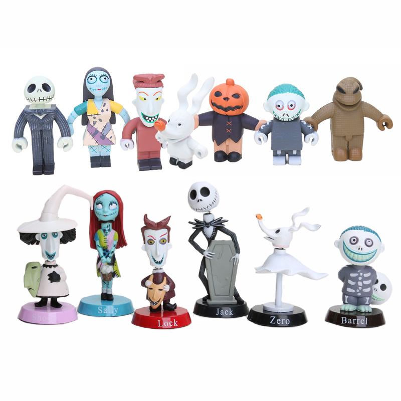 The Nightmare Before Christmas Jack Skellington Action Figure Kids Toy Gift 7PCS
