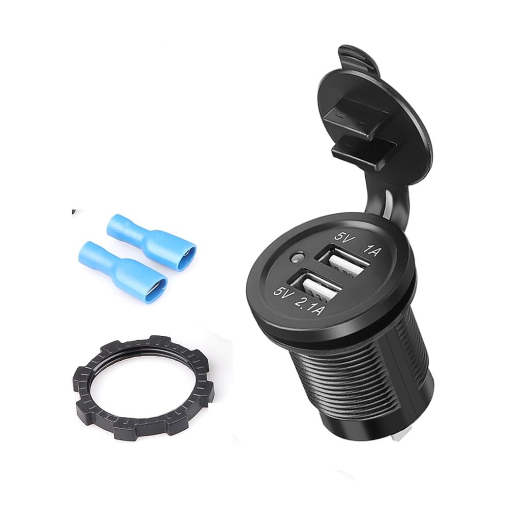 3,1 А двойной USB Водонепроницаемый прикуриватель розетка питания 12 В 120 Вт Автомобиль Лодка Трактор телефонное зарядное устройство универсал...
