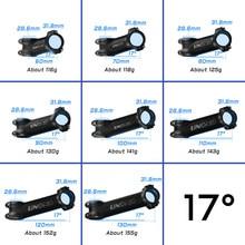 UNO Ultralight bisiklet kök 7 17 derece MTB yol bisiklet gövdesi 31.8mm 60/70/80/90/100/110/120/130mm dağ MTB bisiklet güç parçaları