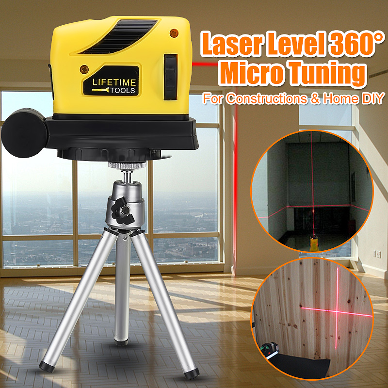 Mini Laser Level With Tripod Bracket 2 Red Lines 360 Rotary Horizontal Vertical Cross Outdoor Powerful Laser Beam Line 3D