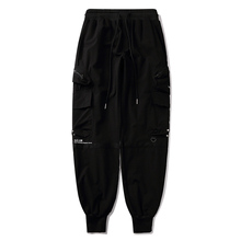 11 BYBB'S DARK Multi Pocket Hip Hop Harem Trousers Men Elastic Waist Harajuku Streetwear Joggers Mens Techwear Tactical Pants
