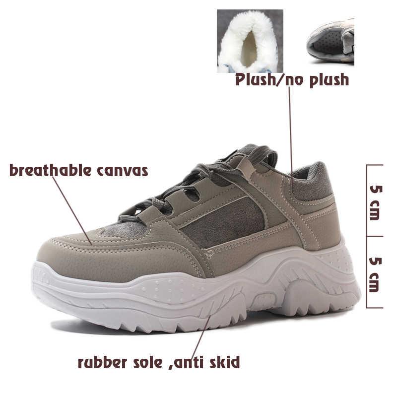 FUJIN mujeres Casual Sneakers primavera otoño Sneakers transpirables zapatos de mujer con cordones botas femeninas commfortable zapatos de plataforma mujeres