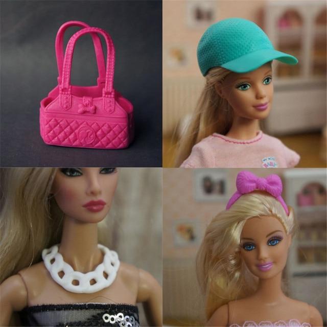 Akcesoria dla lalek lalka kapelusz torebka naszyjnik buty dla 29-30cm lalki barbie akcesoria do zabawek pełne zestawy dla dzieci prezent na boże narodzenie